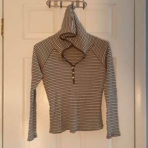 Old Navy Lightweight Thermal Hoodie, M, striped